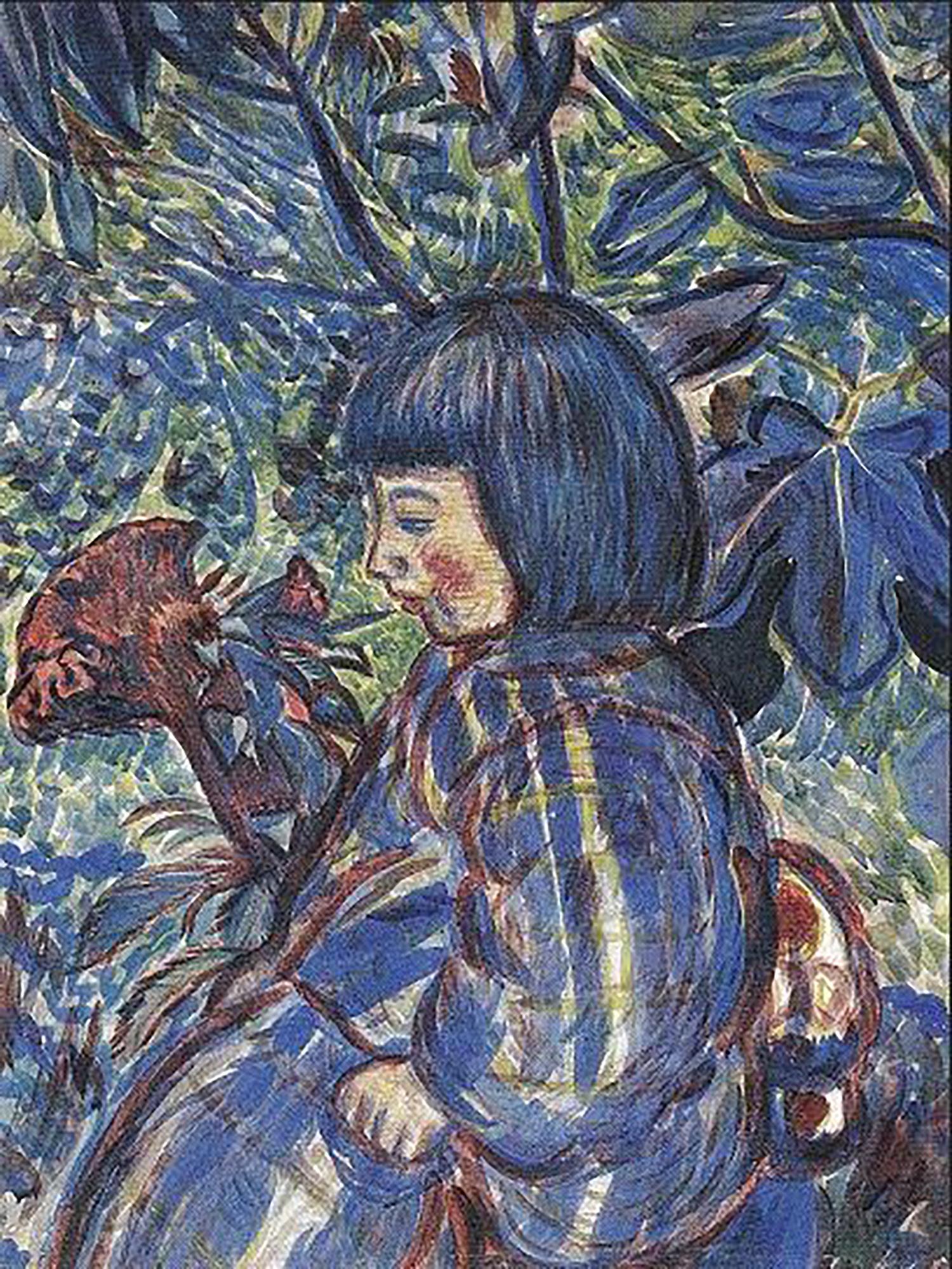 村山槐多 庭園の少女