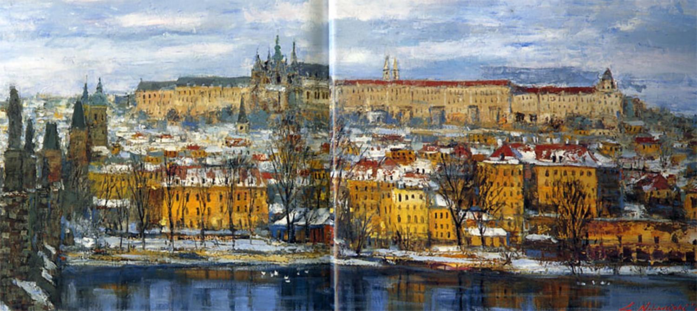 中西繁 プラハ城遠望