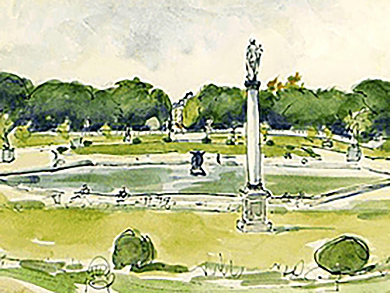荻須高徳 ルクセンブルグ公園