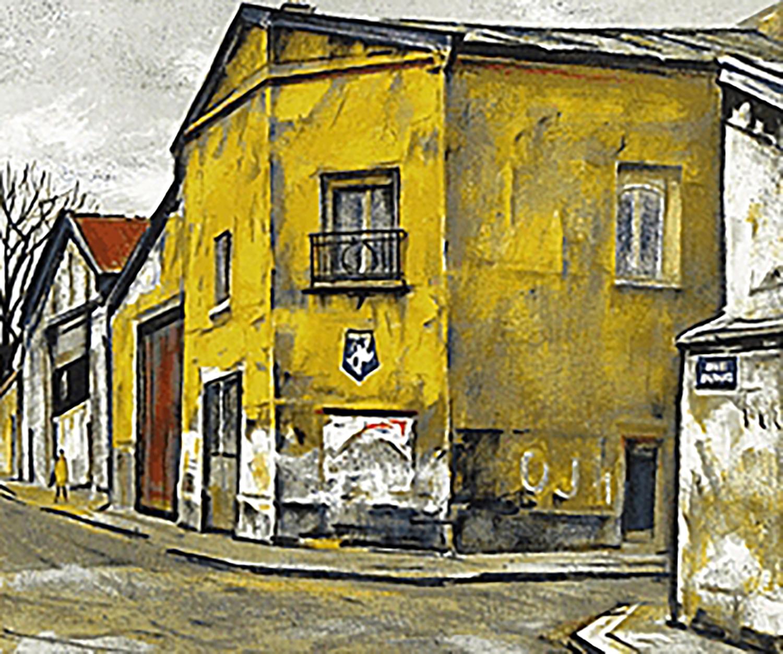 荻須高徳 ミシュラン(黄色い壁の家)
