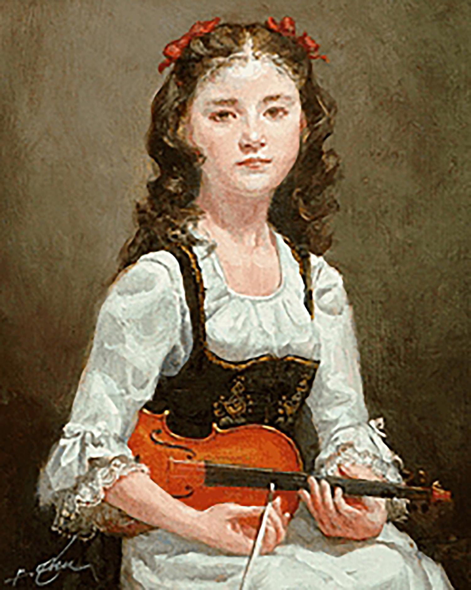 奥龍之介 バイオリンの少女