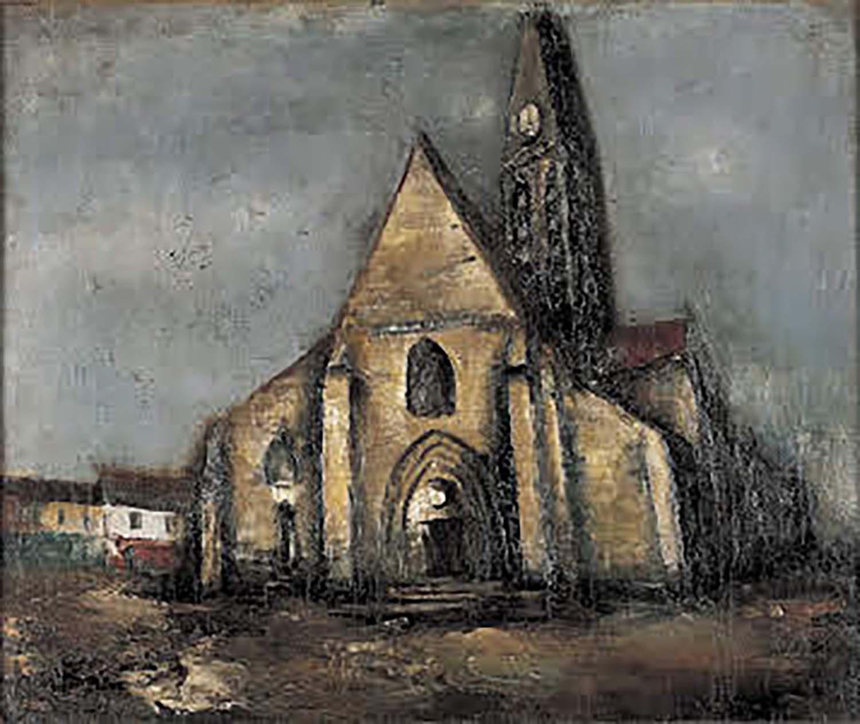 佐伯祐三 Church/Alley in Paris