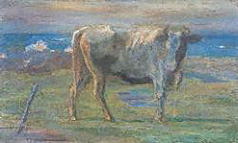 坂本繁二郎 海岸の牛