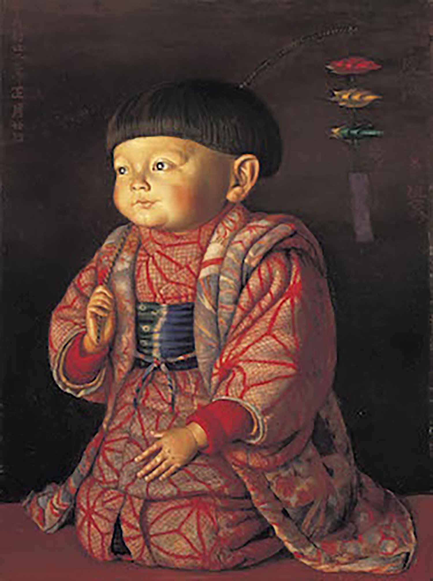 椿貞雄 菊子座像