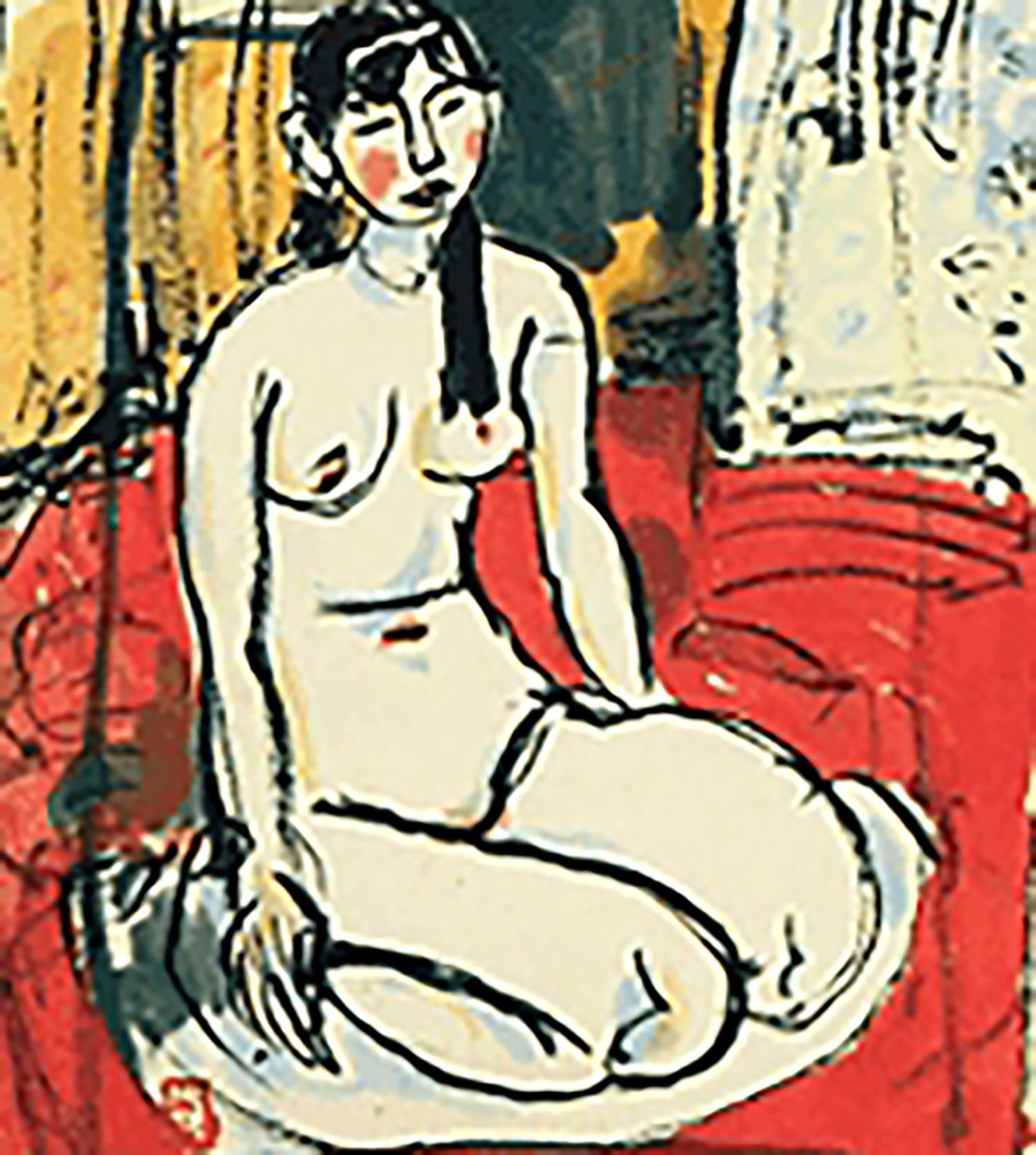 梅原龍三郎 坐裸婦