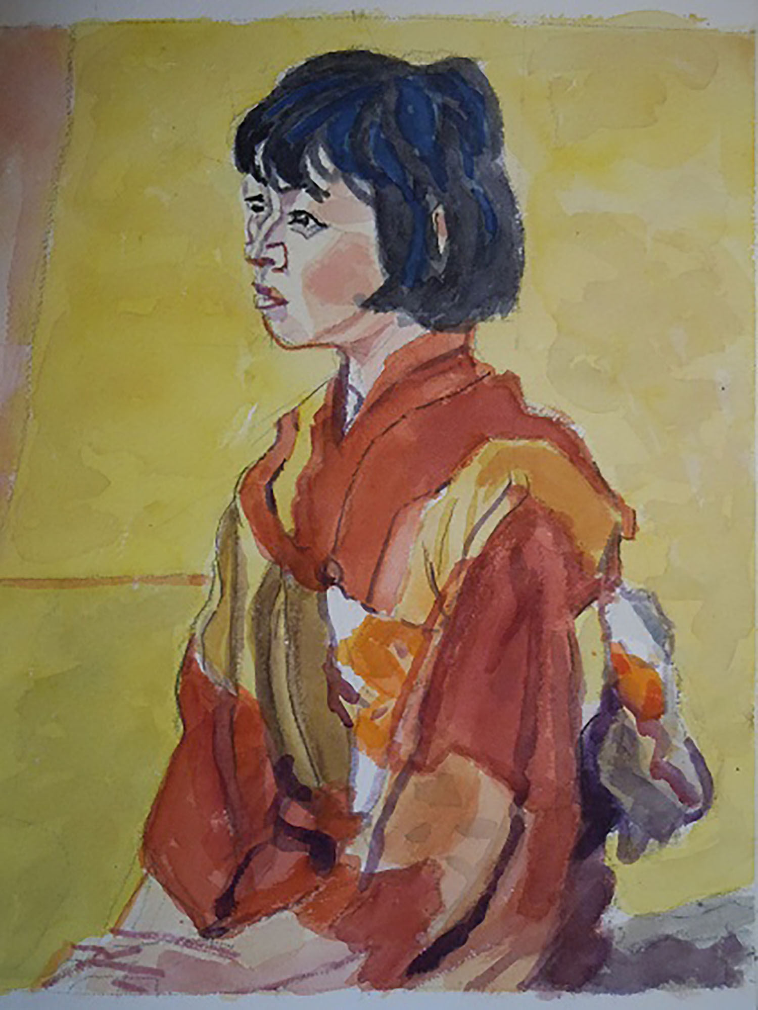安井曾太郎 少女像